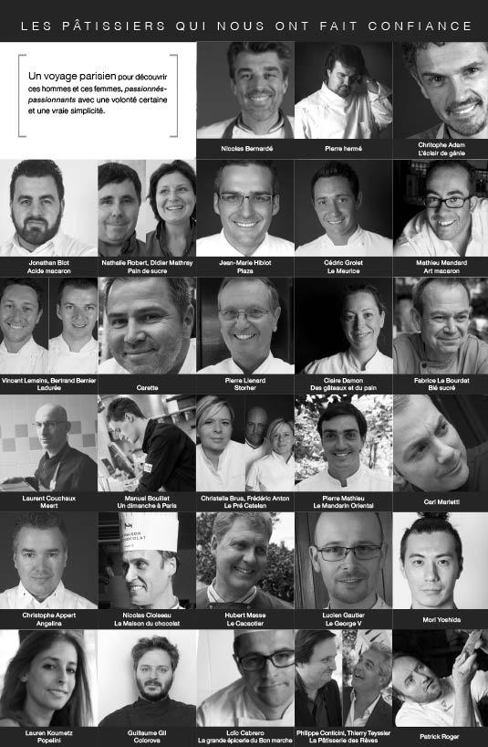 Portraits des Chefs pâtissier qui soutiennent Yummy le guide des gourmands