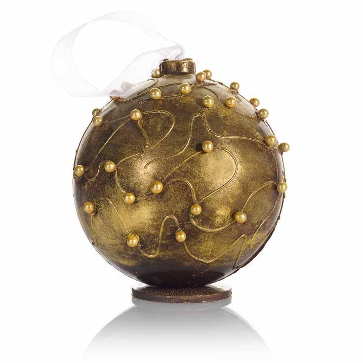 Boule Fabergé à offrir, couleur or