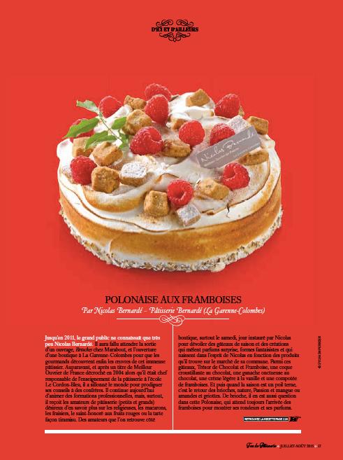 Fou de Pâtisserie # 12 — Polonaise aux framboises
