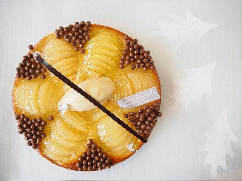 Féérie aux poires et crème d'amandes au caramel