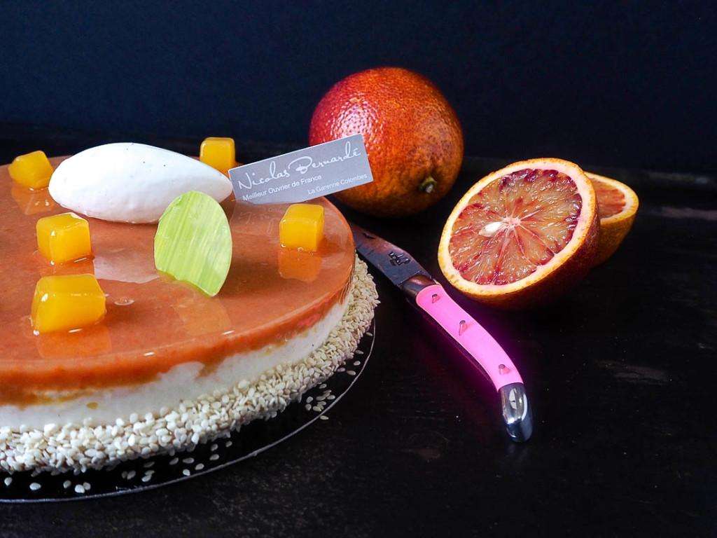 Macaron volcanique aux oranges sanguines