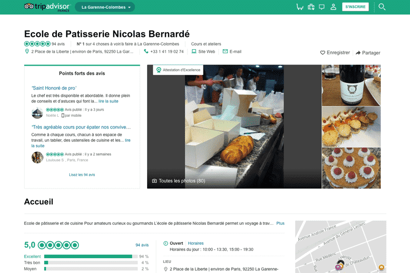 Ecole de pâtisserie sur TripAdvisor