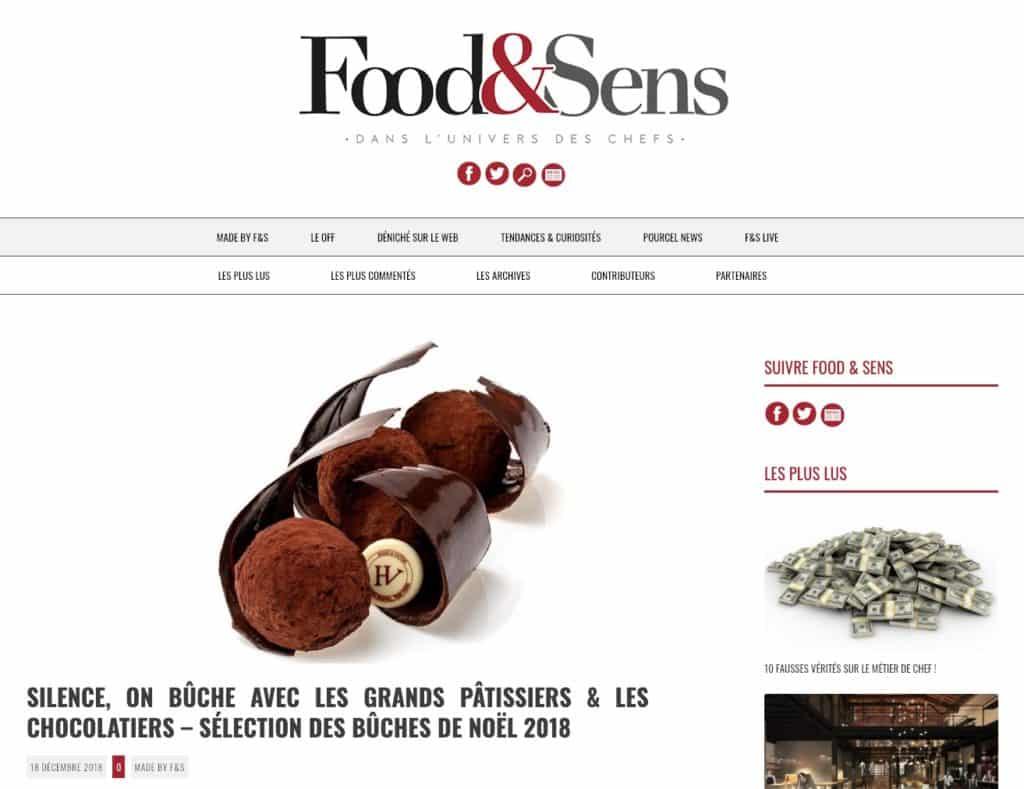 Bûches par Food&Sens