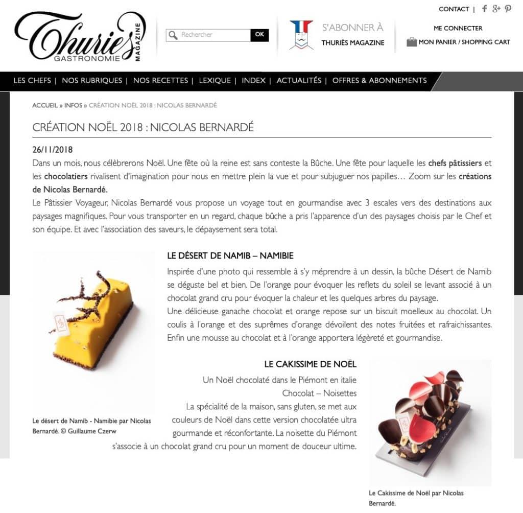 Nos Bûches dégustées par Thuries Magazine