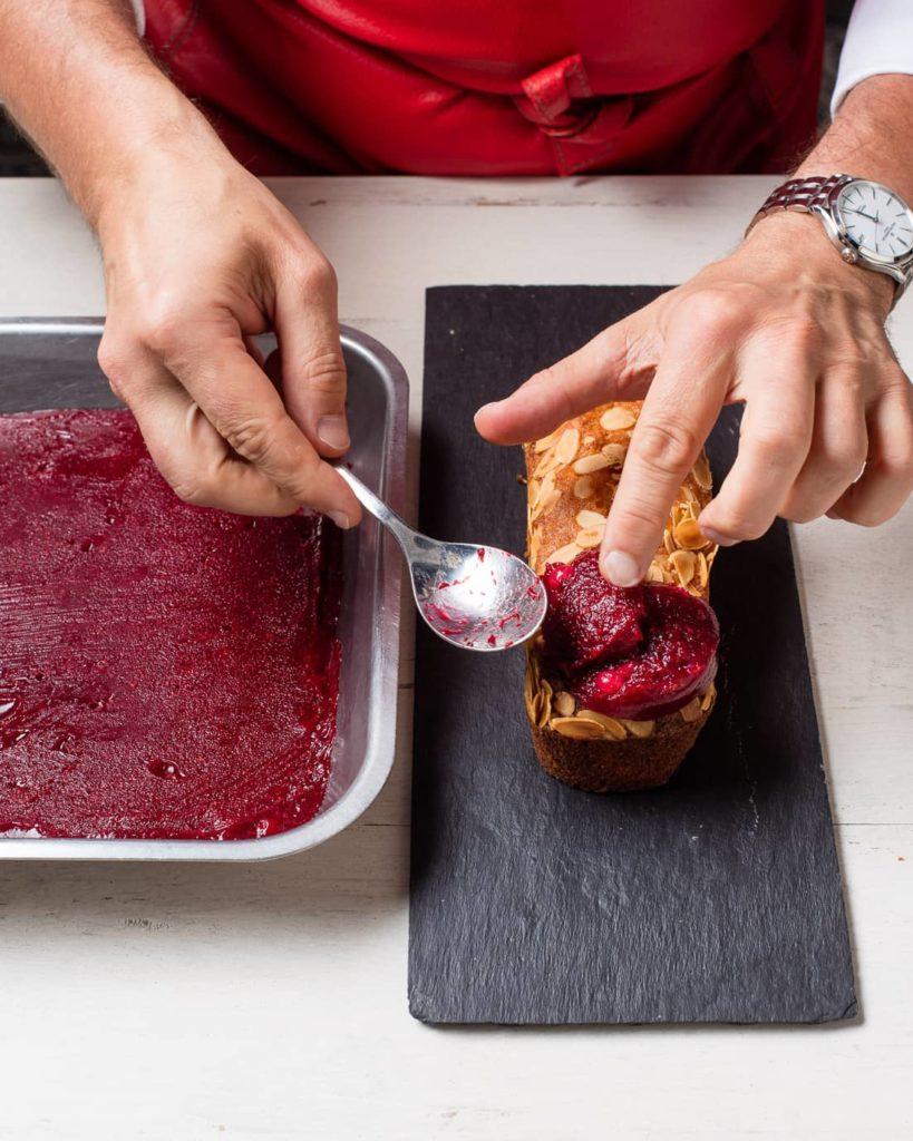 Etape 7 recette cake melba