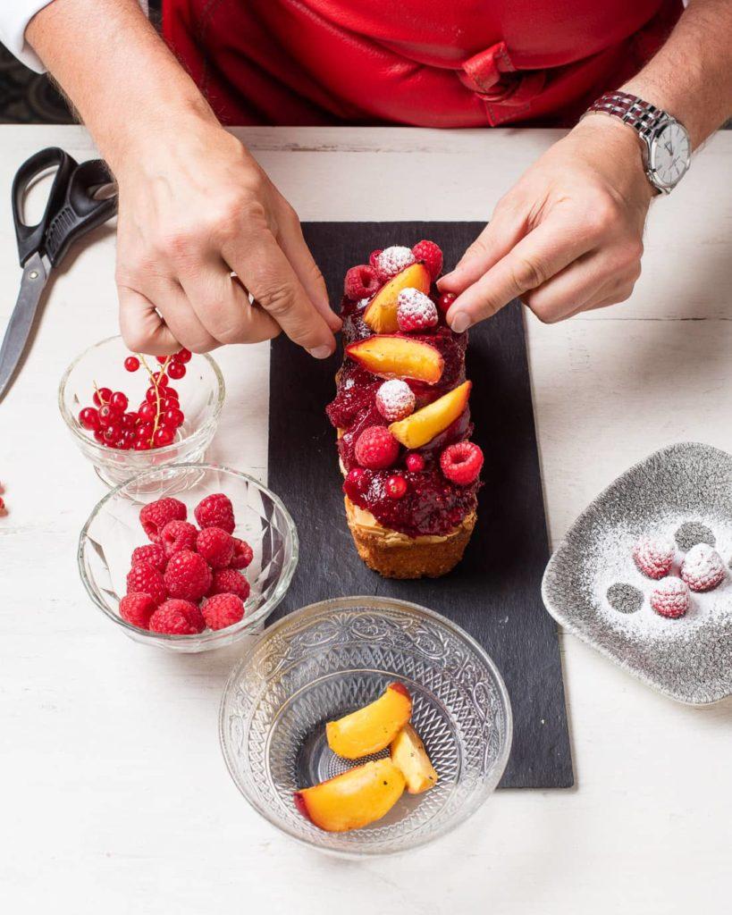 Etape 8 recette cake melba