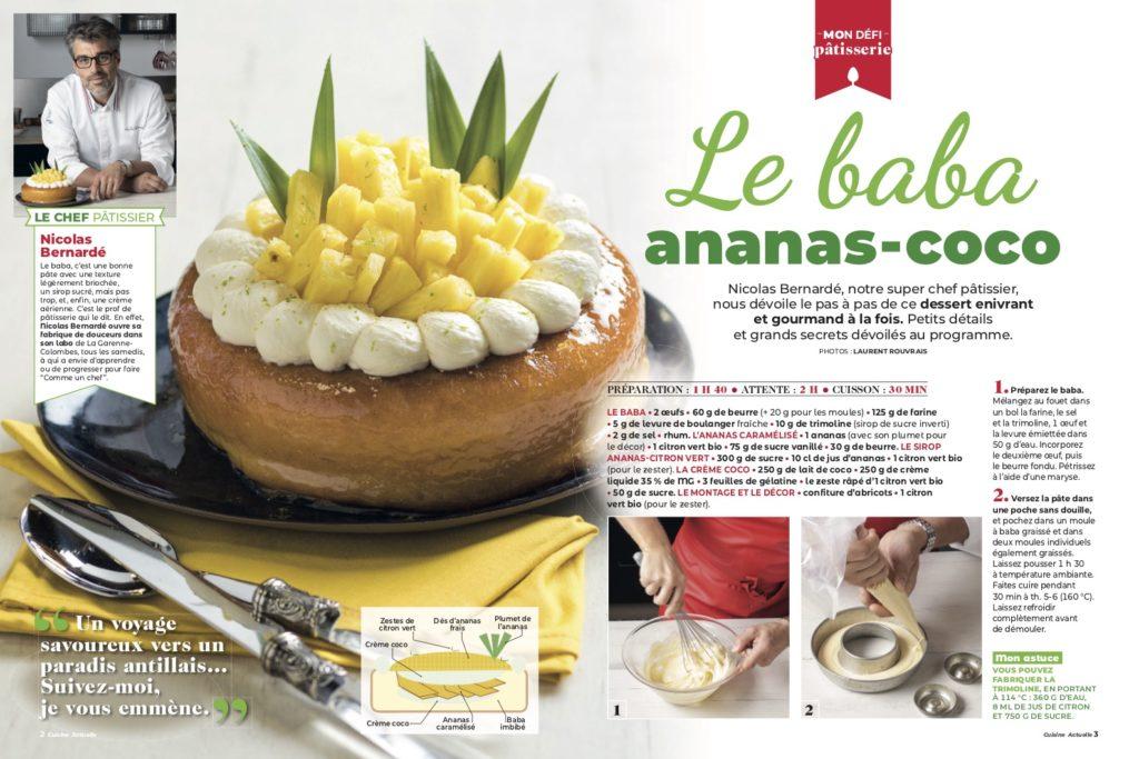 Mon défi pâtisserie : Le baba ananas-coco