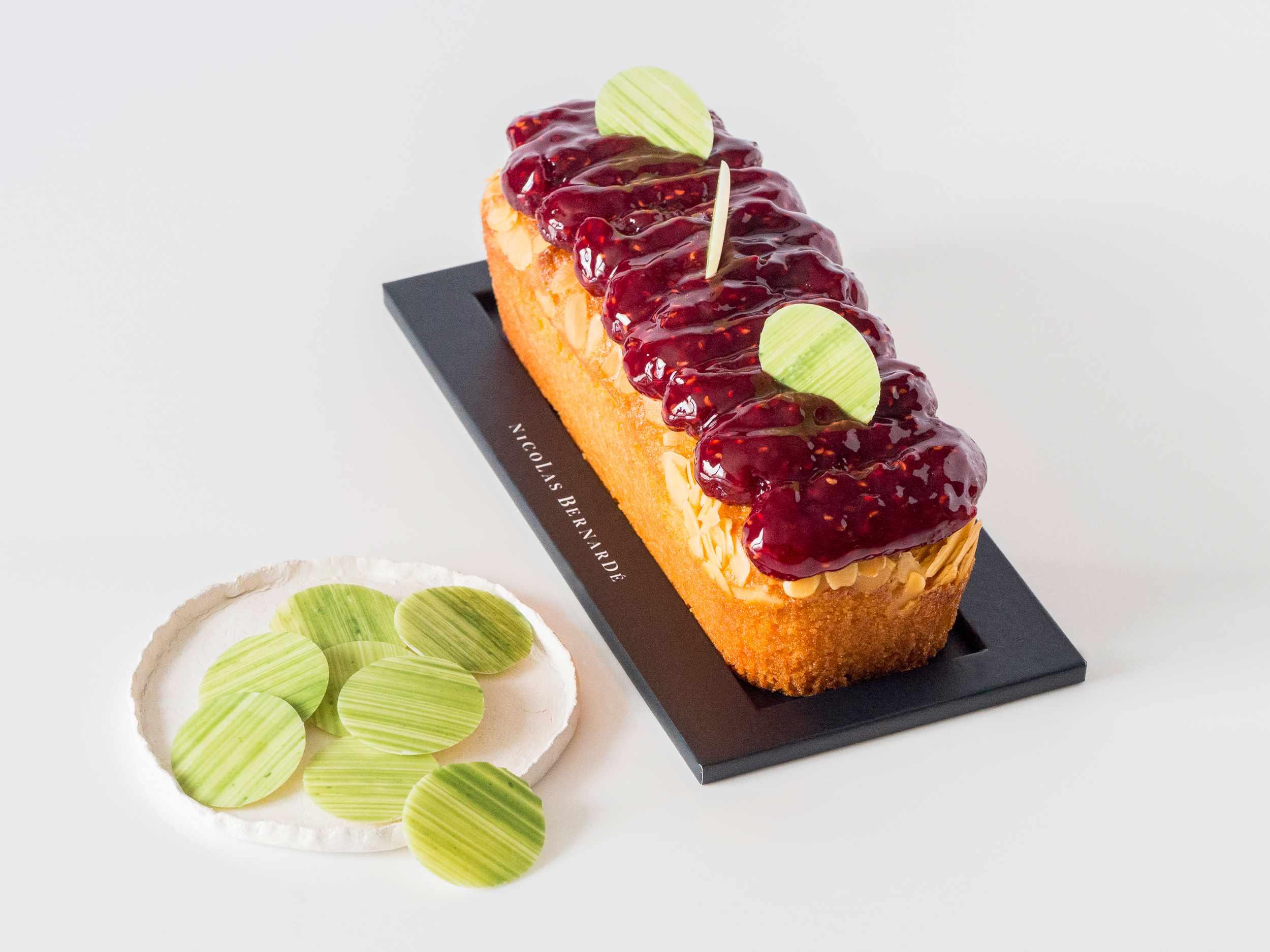 Cake amandes framboise