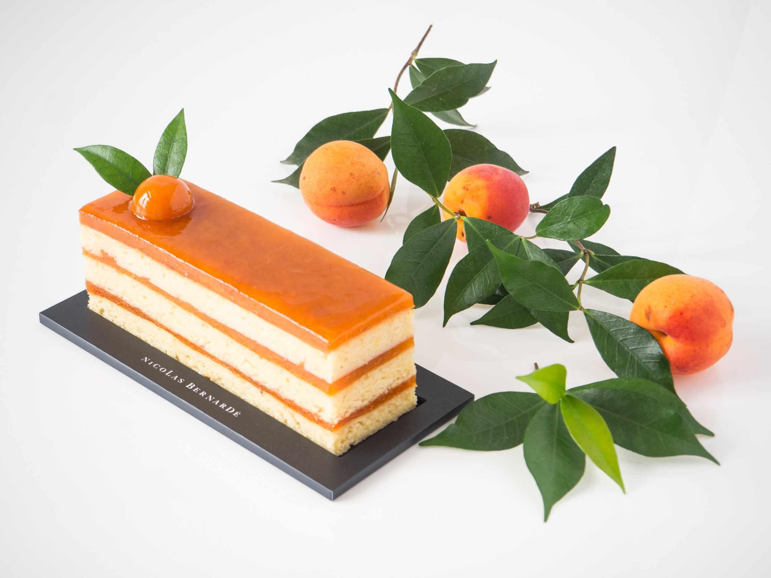 Cake aux abricots à étage