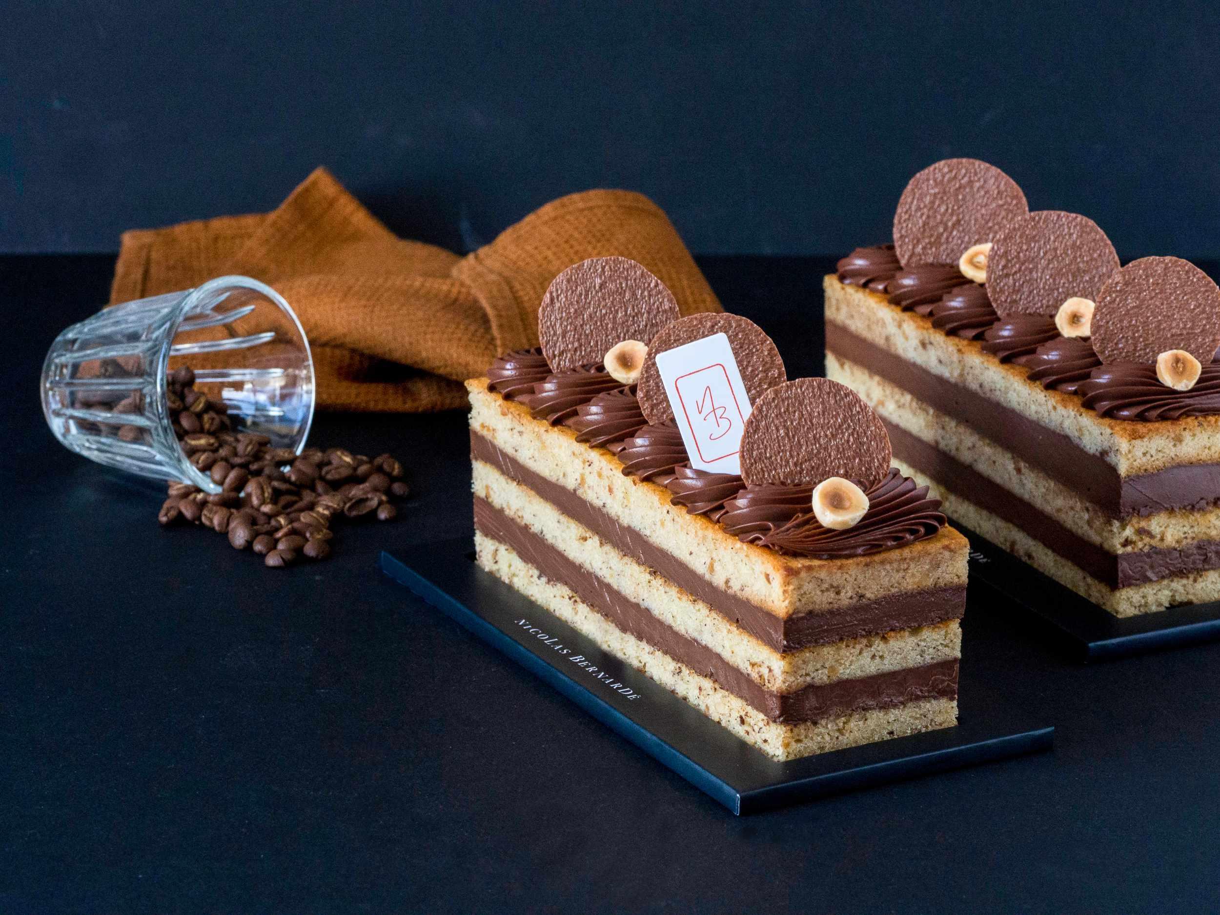 cake café chocolat noisette étages-3