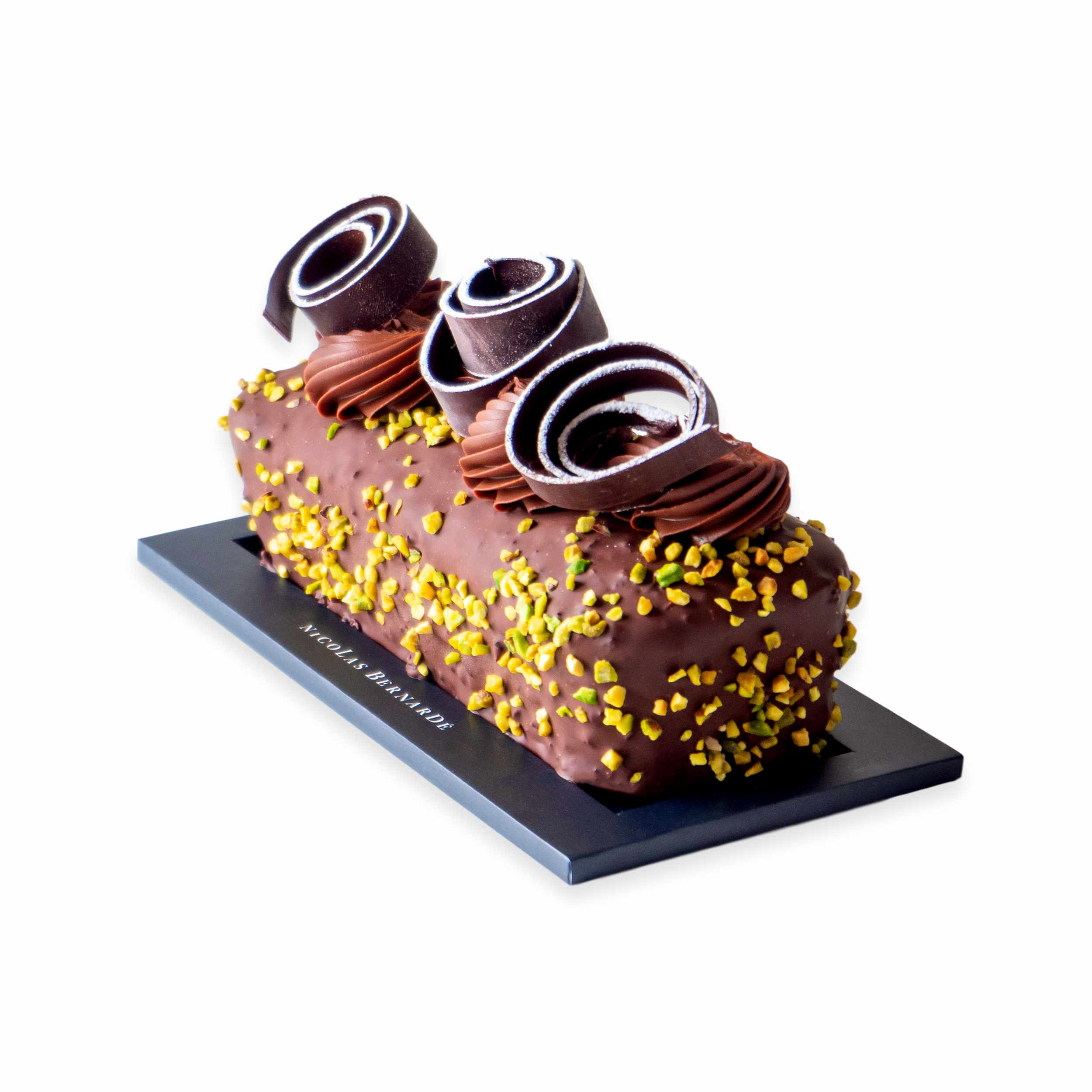 Cake-chocolat-pistache-enrobe