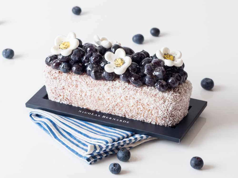 cake coco myrtille de printemps