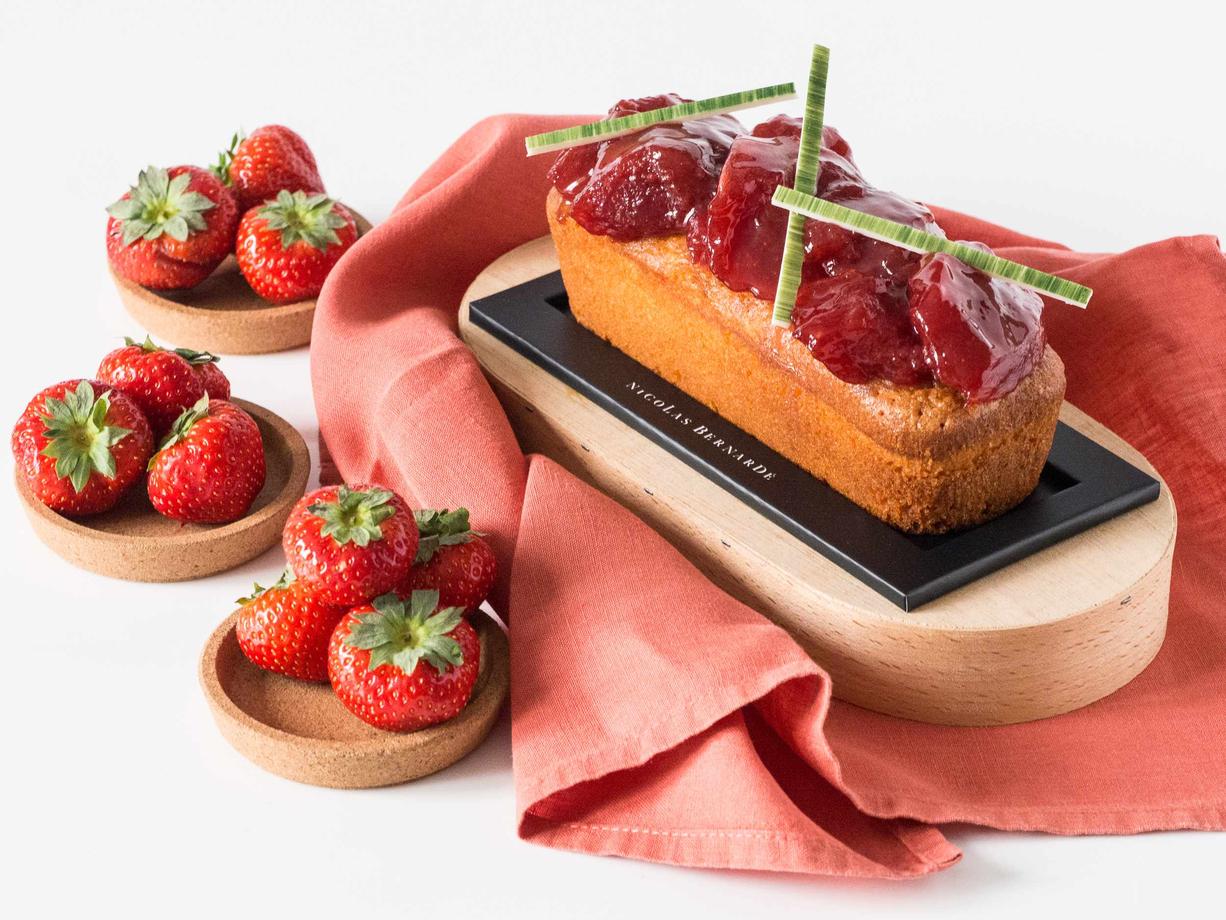 cake fraise bergamote