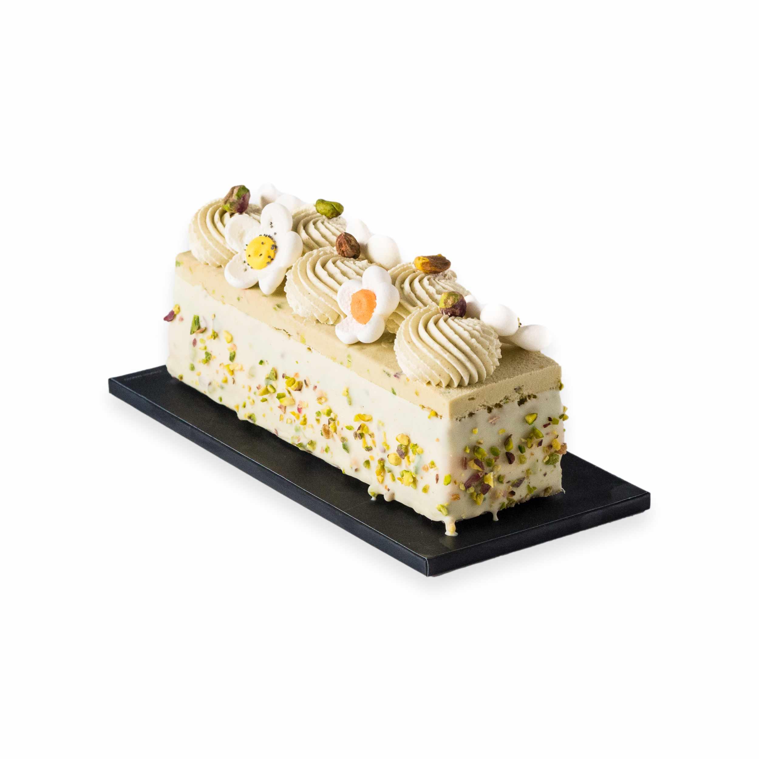 Cake glacé Fraise et pistache