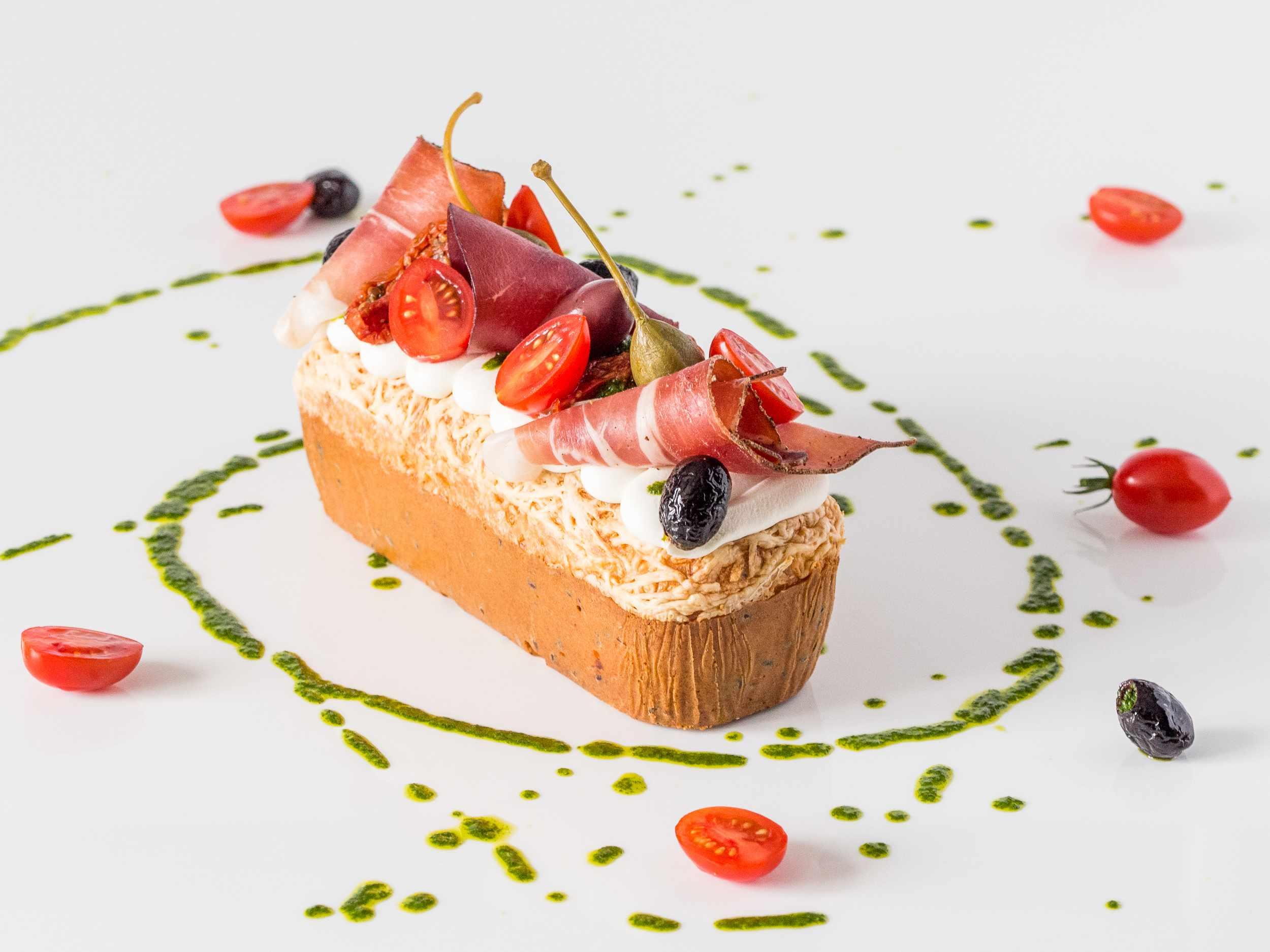 Cake salé aux saveurs italiennes