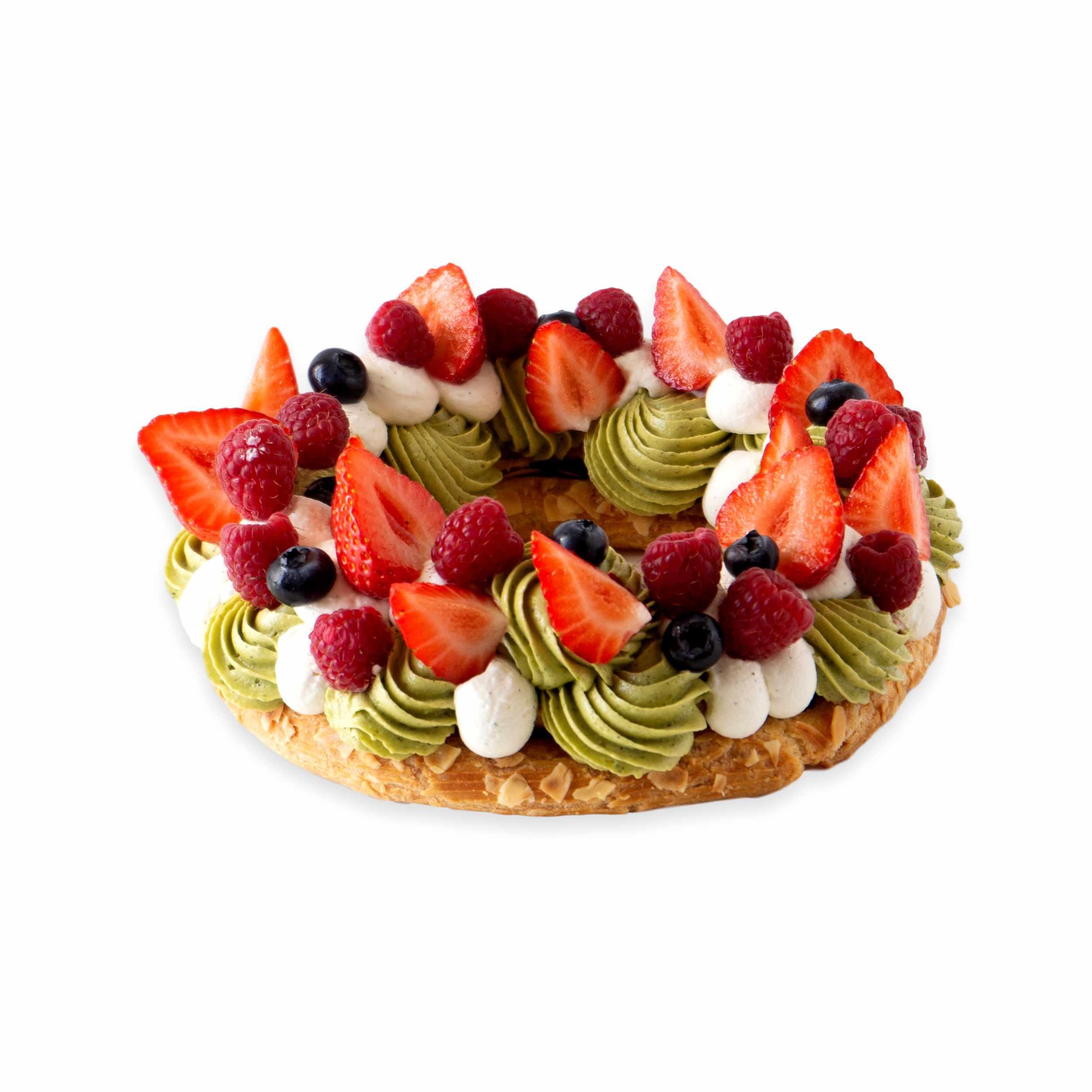 Couronne-pistache-fruits-rouges