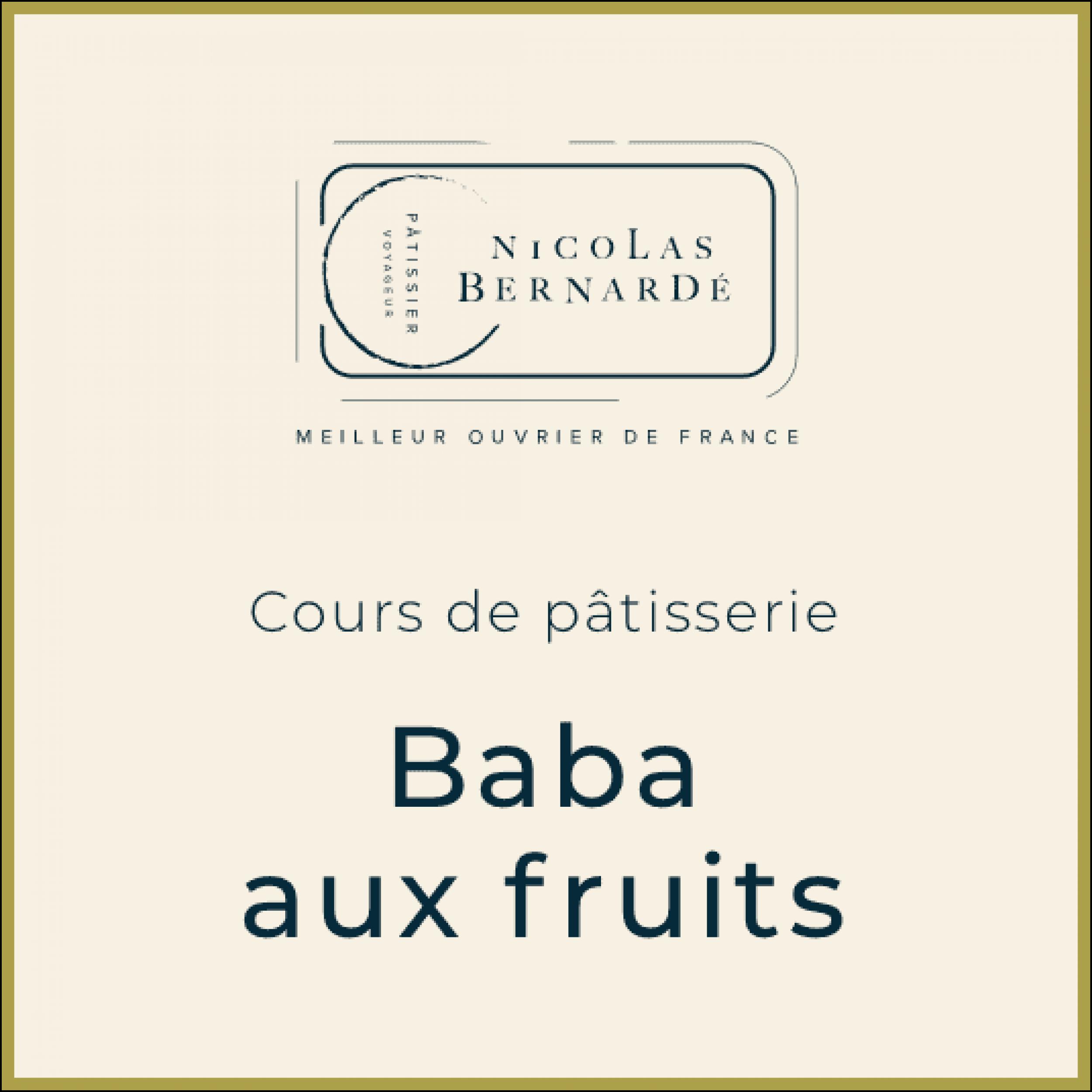 CoursPatisserie BabaFruits