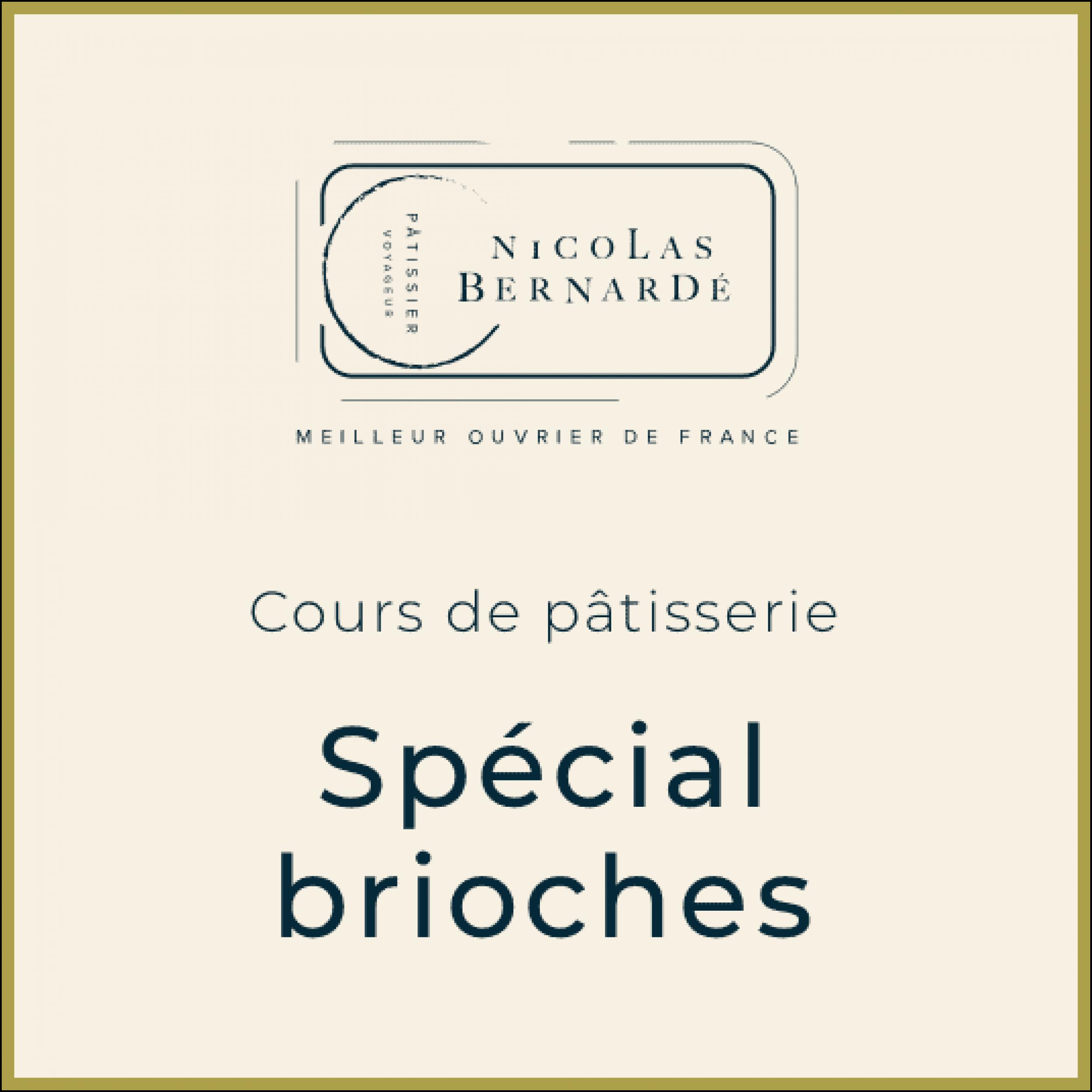CoursPatisserie SpecialBrioches