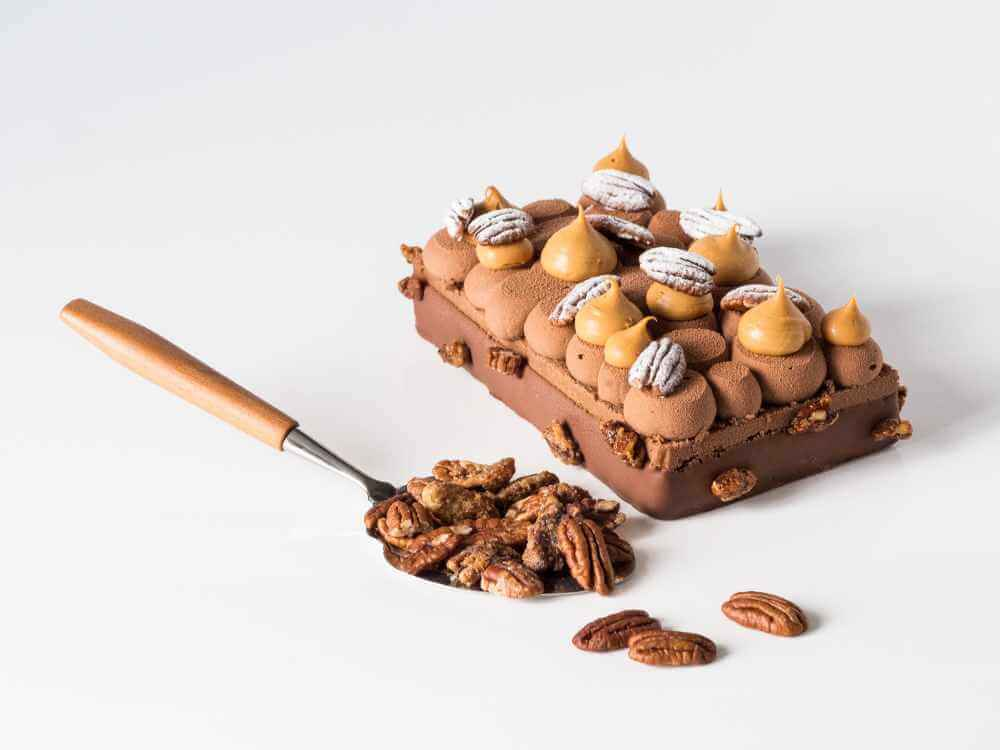 Entremets pécan chocolat caramel