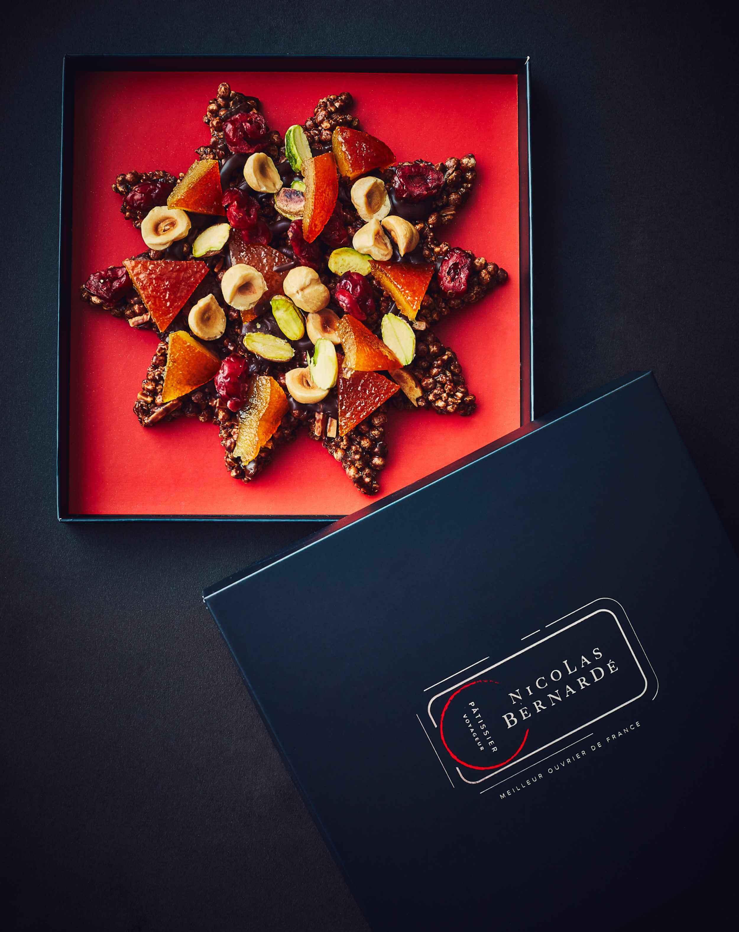 Espoir en chocolat - Étoile chocolat mendiant-24
