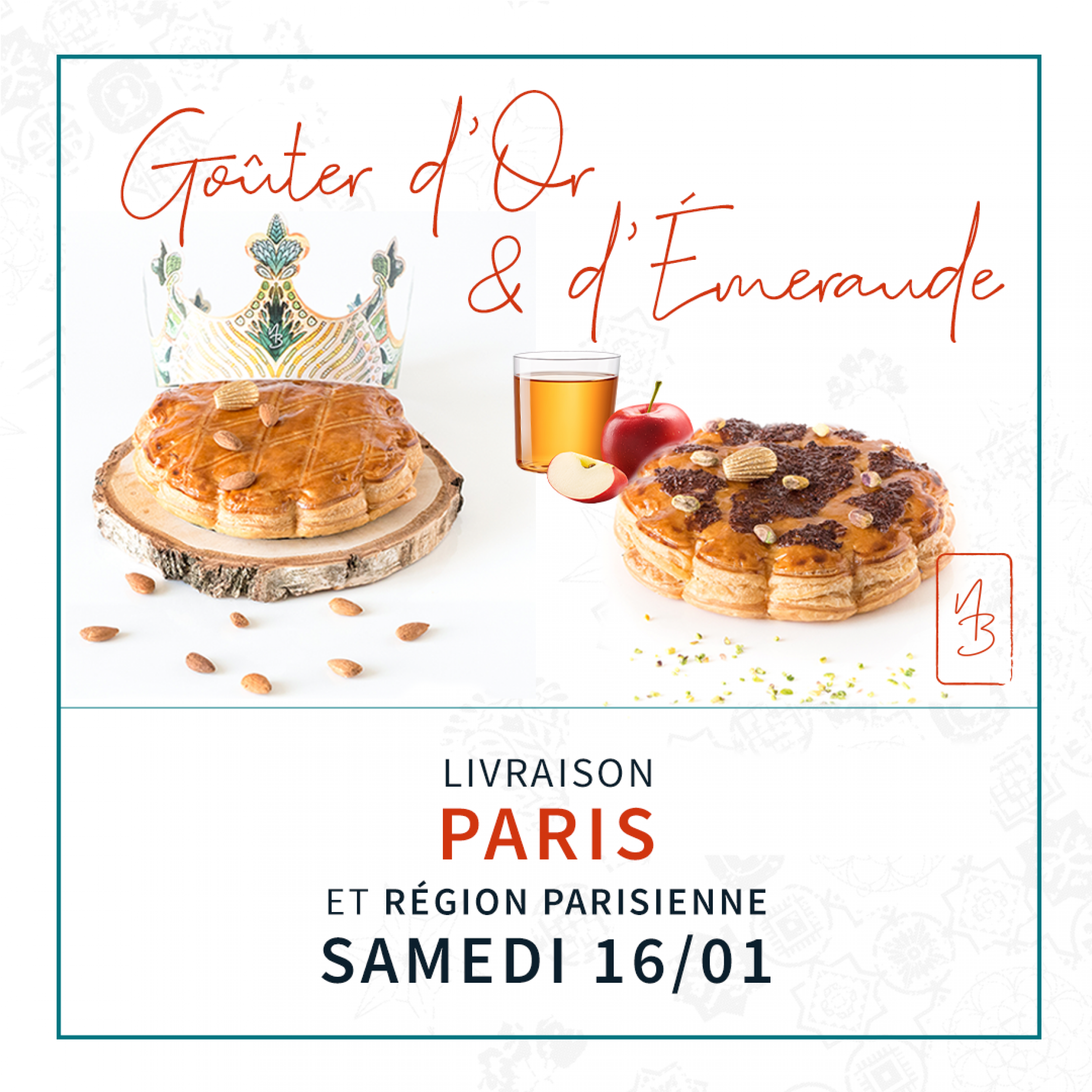 Gouter des Rois Or-Emeraude