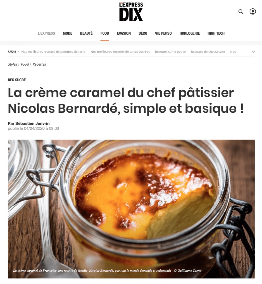 Lexpress-recette creme caramel simple