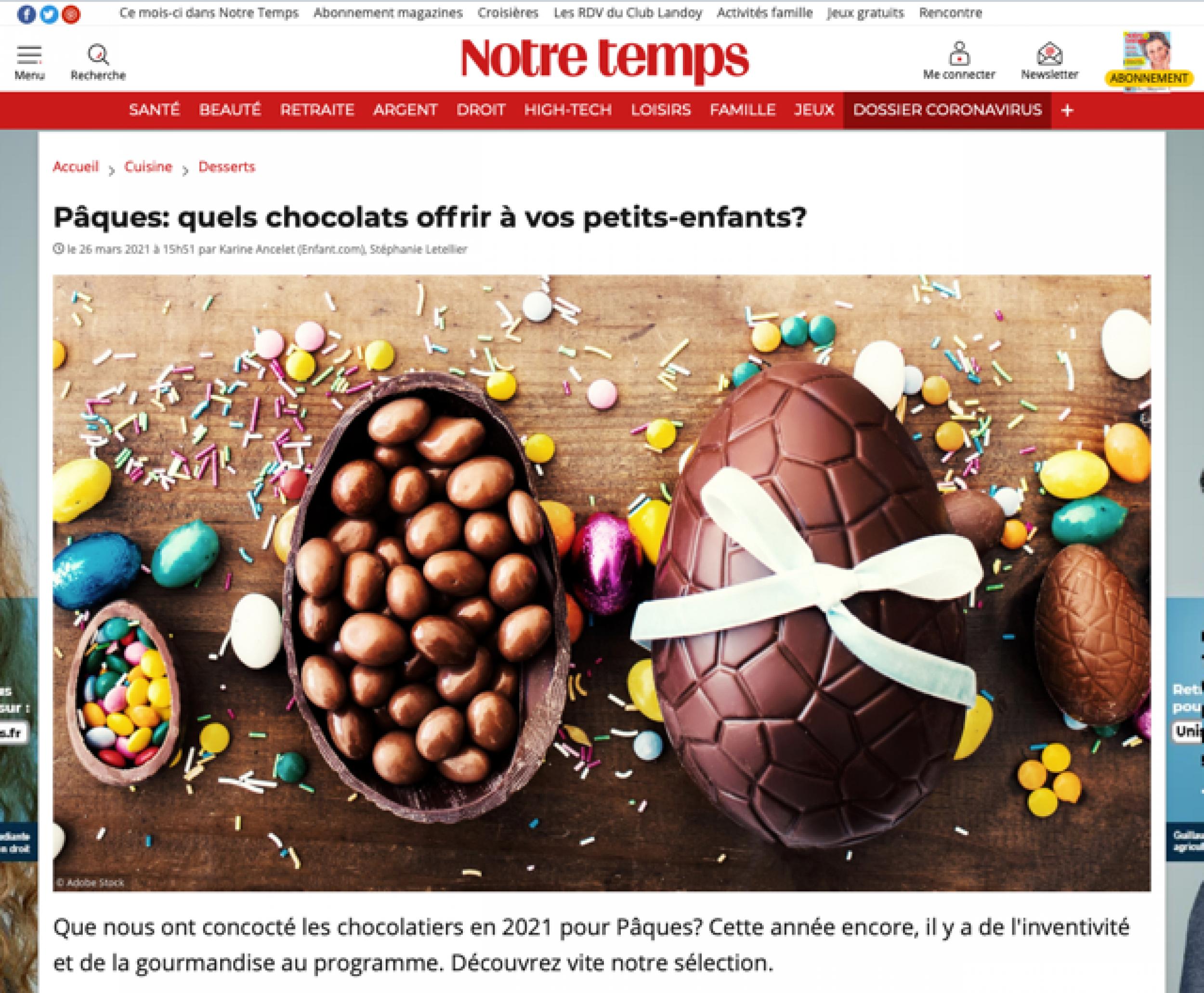 Pâques. quels chocolats offrir à vos petits-enfants