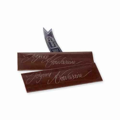 plaquette chocolat bon anniversaire