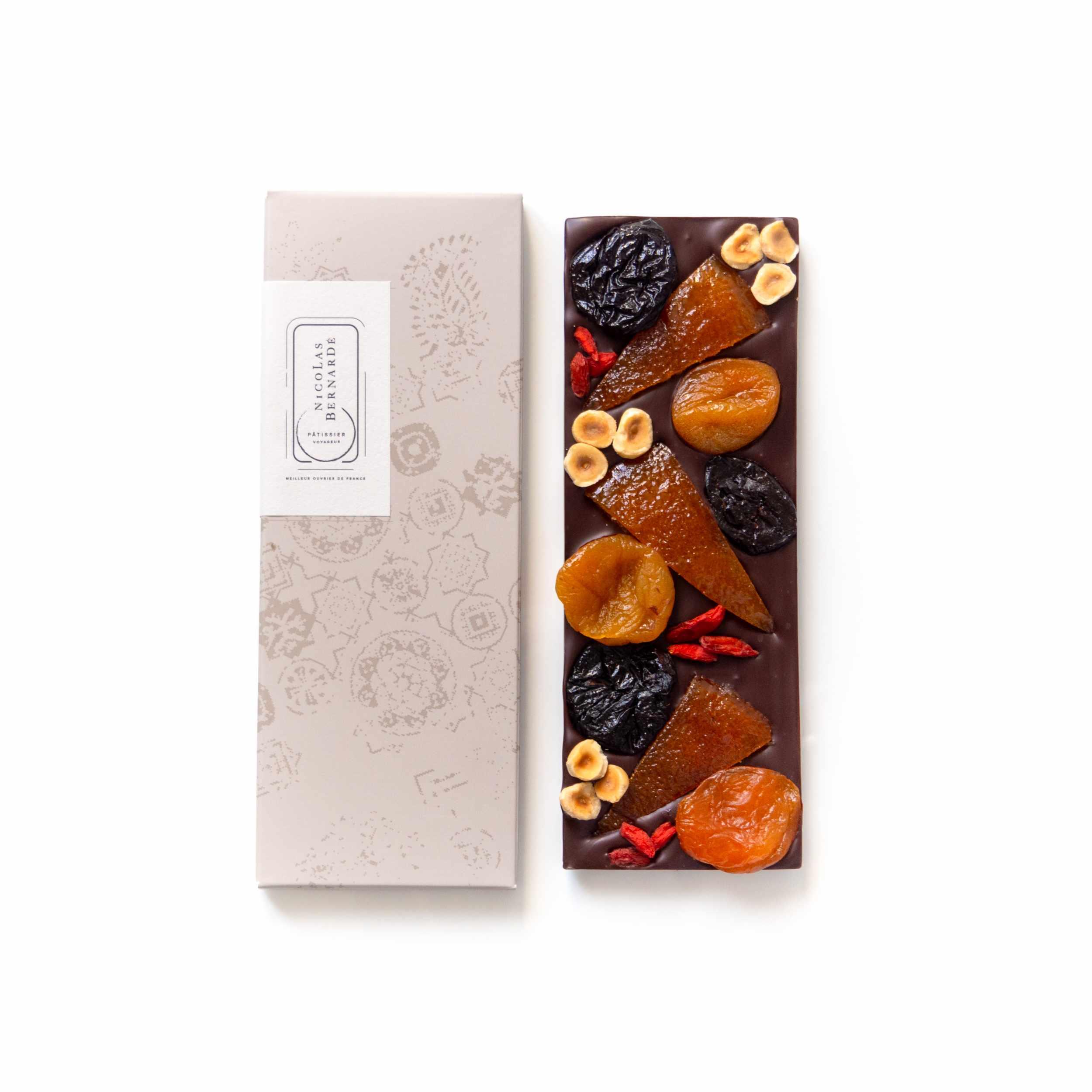 Tablettes chocolat noir enrichi - Mendiant