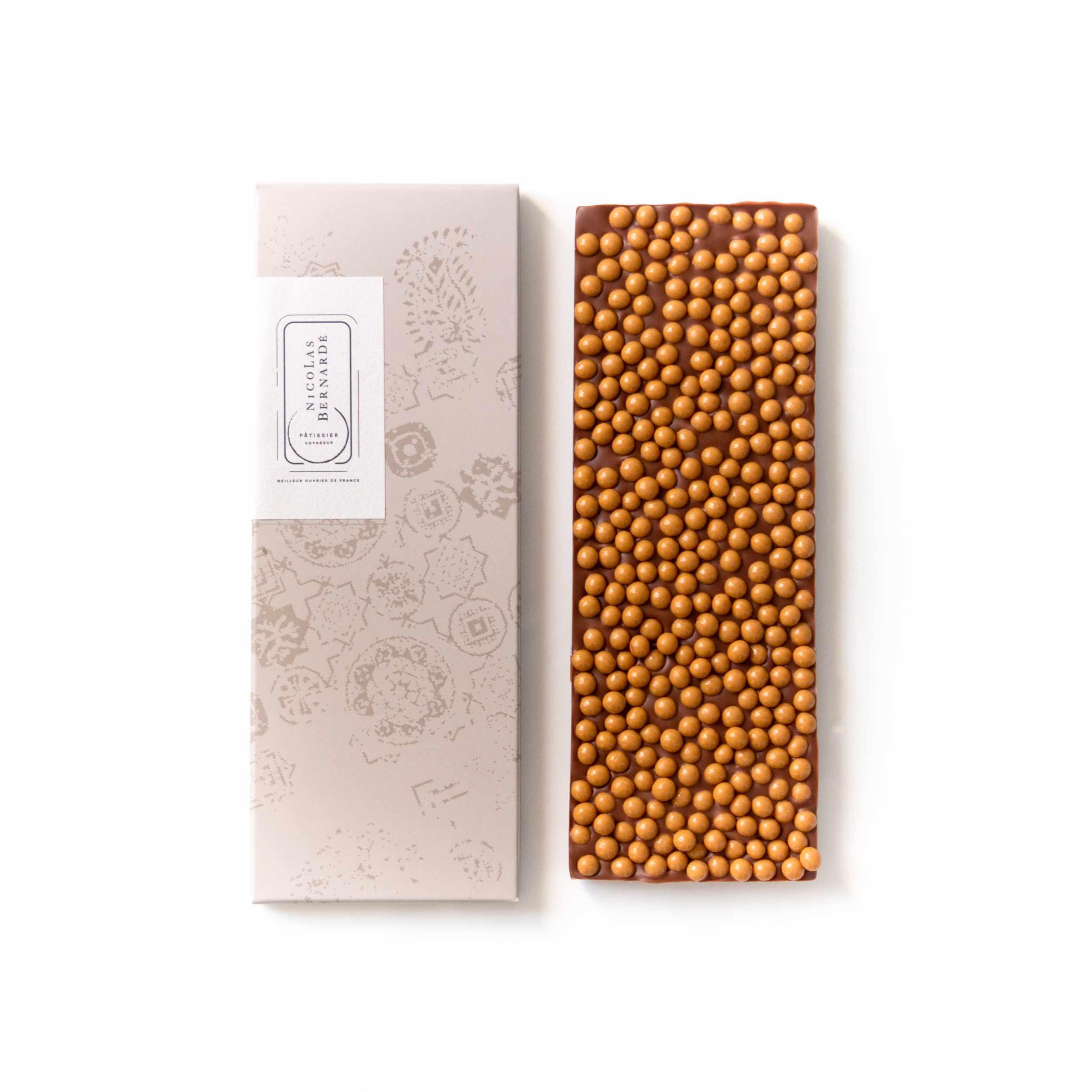 Tablettes de chocolat lait enrichi - Perles croustillantes