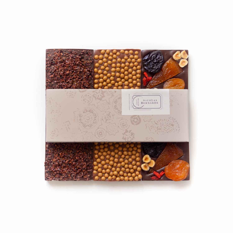 tablettes de chocolats enrichis