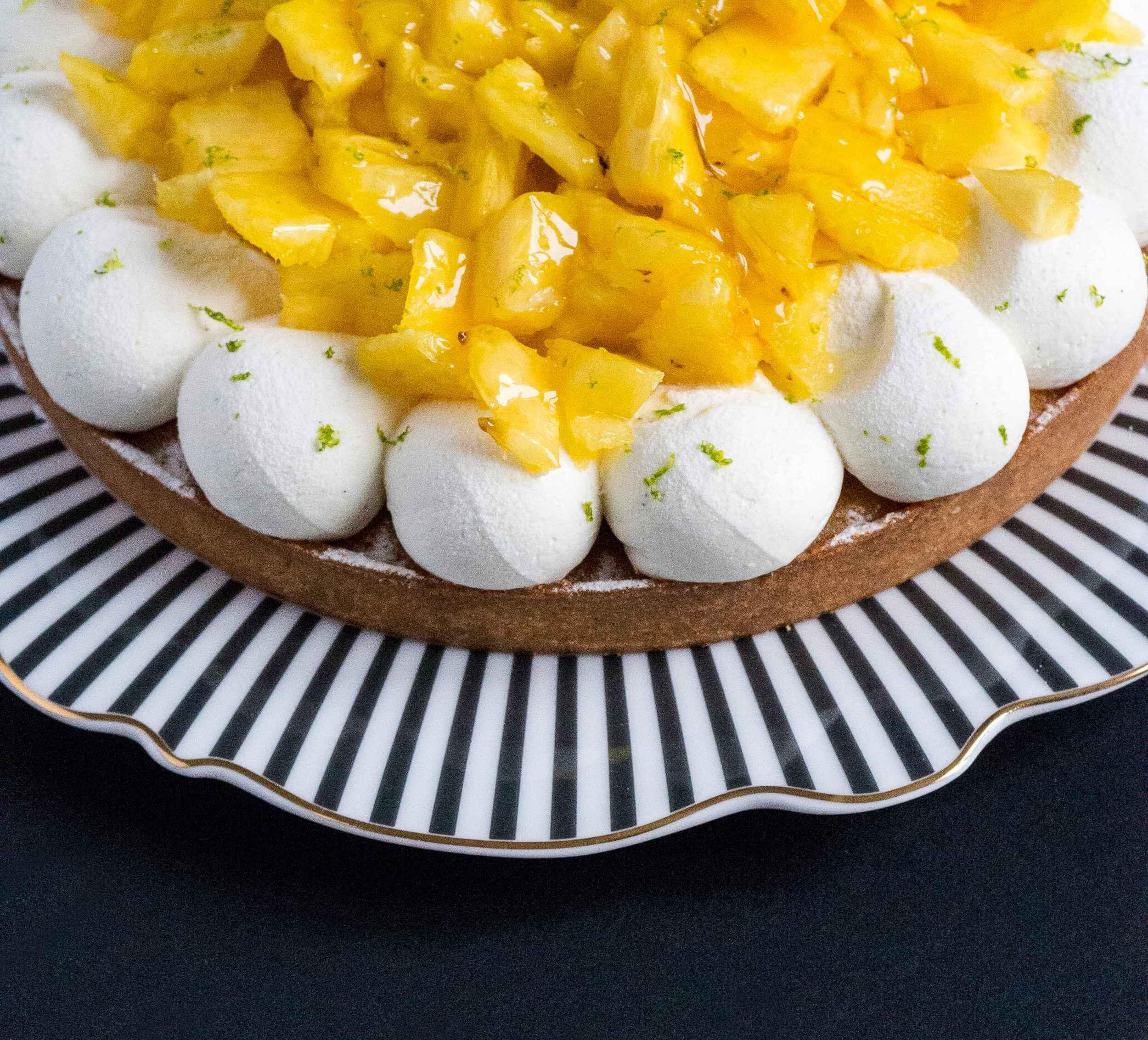 Tarte ananas passion du samedi