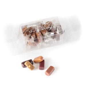 Bonbons de caramels artisanal dans un berlingot transparent