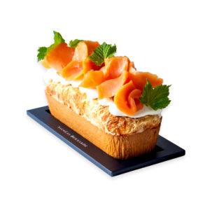 Cake au saumon fumé et à la crème fraiche