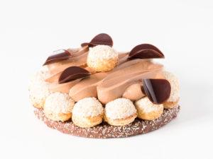 Saint Honoré chocolat, praliné et coco