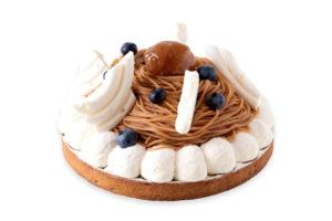 Tarte crème vanille, marron et cassis