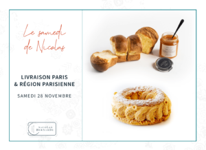 Samedi de Nicolas :Paris-Bres, Brioche et confiture livré sur Paris et la proche banlieue