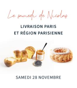 Vignette du Samedi de Nicolas, 1 Paris-Brest, 1 brioche et 1 pot de confiture livré sur Paris