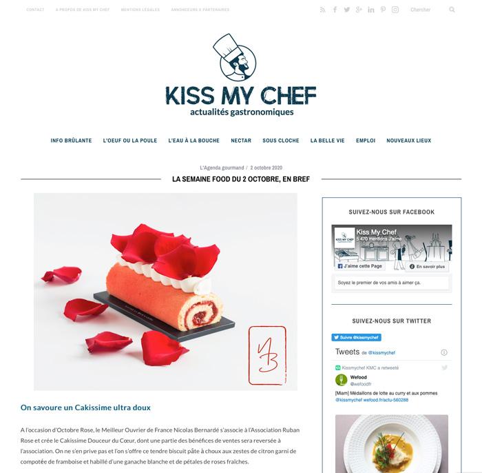 Semaine food de Kiss my chef : le Cakissime Octobre rose