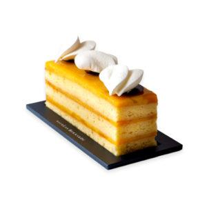 Cake mangue, noix de coco et fruit de la passion