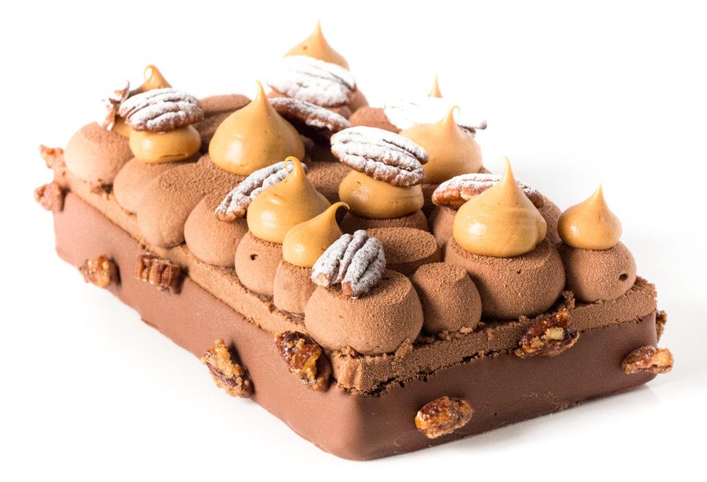 Délice du Yucatan, un Entremets pécan chocolat caramel-3
