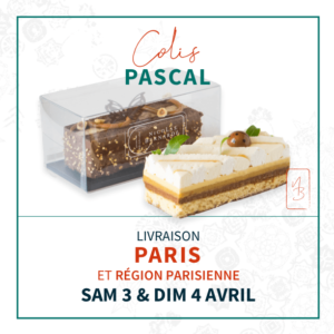 Colis de délices pour Pâques. 2 Gâteaux livrés à domicile par coursier le 3 et 4 avril 2021