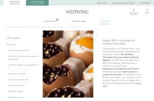 Blog Westwing ventes privée