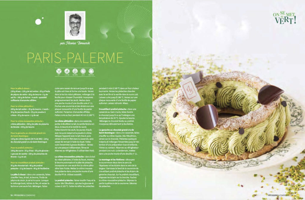 Article Pâtisserie et compagnie, recette et photo du paris-brest à la pistache