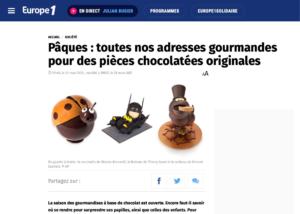 europe1 célèbre nos chocolats de Pâques, dont la coccinelle en chocolat