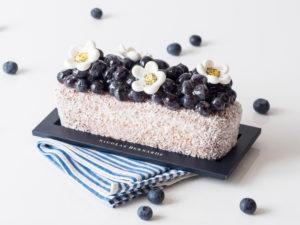 cake coco myrtille