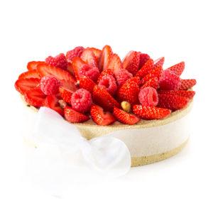 charlotte pistache aux fruits rouges