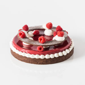 tarte au chocolat et à la framboise