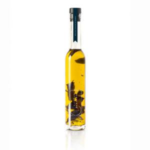 Bouteille d'huile d'olive aux cèpes
