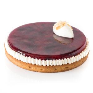 tarte aux prunes d'Ente, dans un miroir de gelée de prune